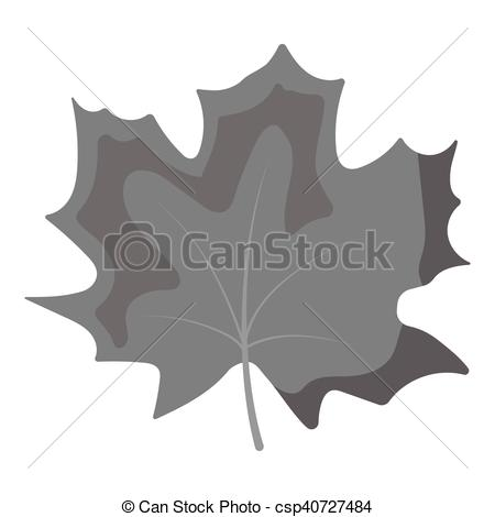 450x470 Maple Leaf Vector Icon In Monochrome Style For Web. Maple Leaf