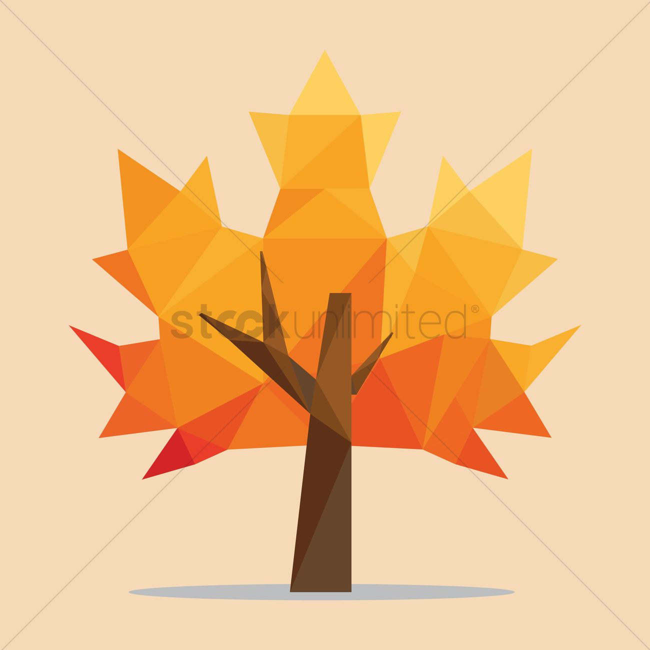 1300x1300 Maple Tree Vector Image