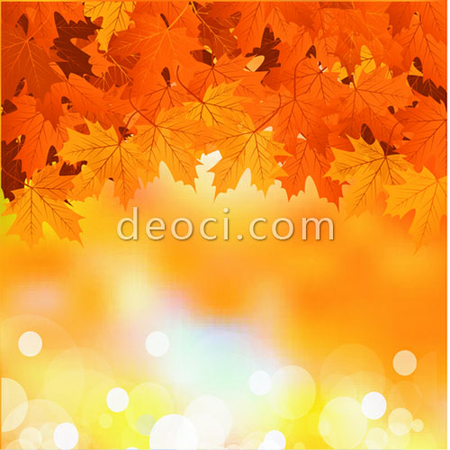 500x500 Vector Golden Background Scenery Maple Advertising Design Template