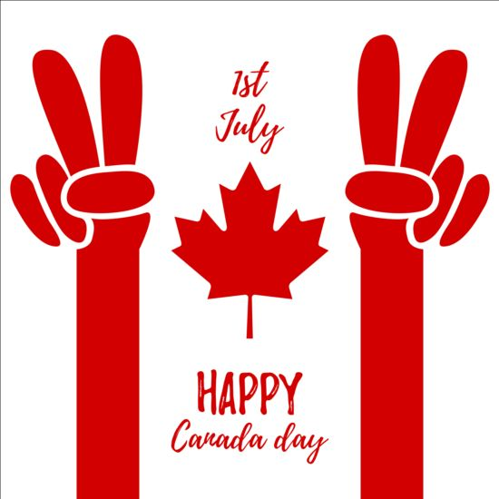 550x550 Canada Day Background With Maple Leaf Vector 01 Free Download