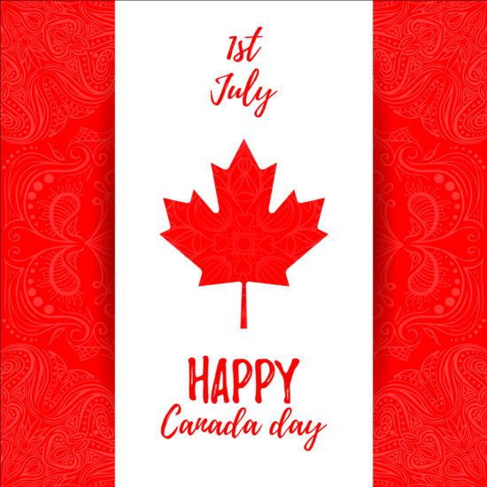 550x550 Canada Day Background With Maple Leaf Vector 02 Free Download