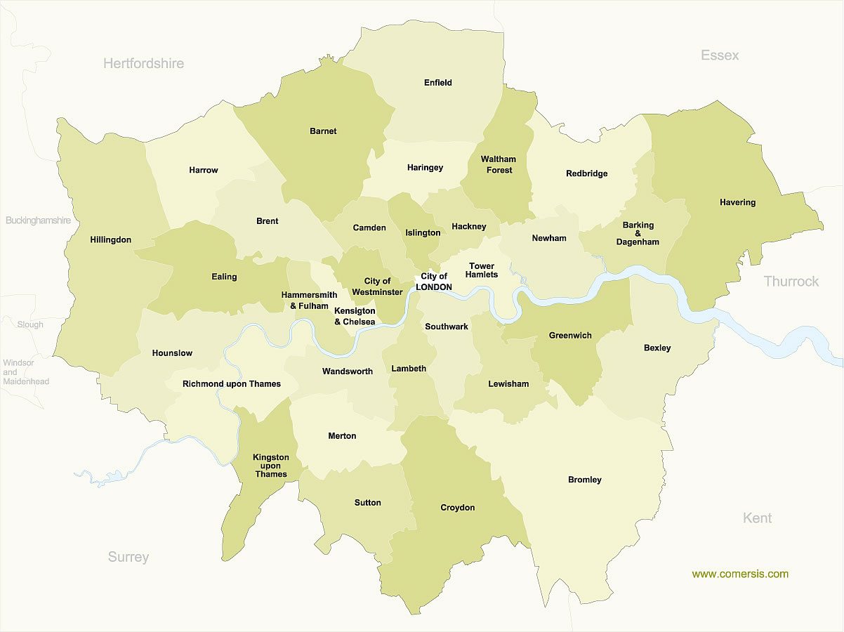 1202x900 Free Map Of Greater London Boroughs With Names