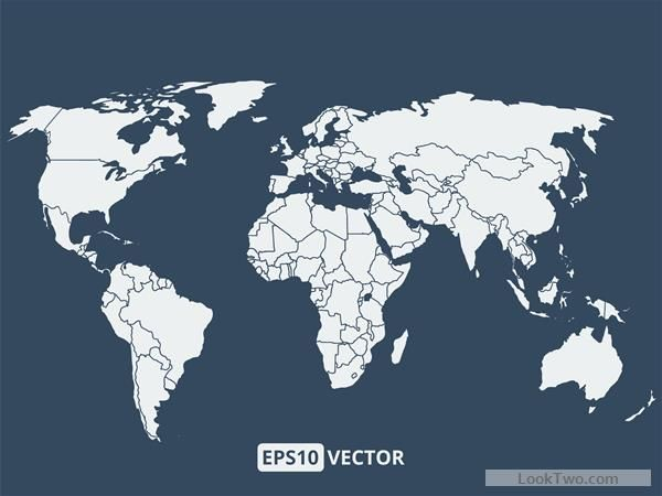 600x450 Simple World Map Vectors Graphcs 02 Free Vector Download Free