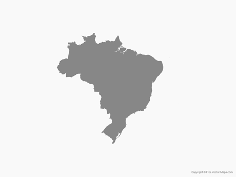 460x345 Vector Maps Of Brazil Free Vector Maps