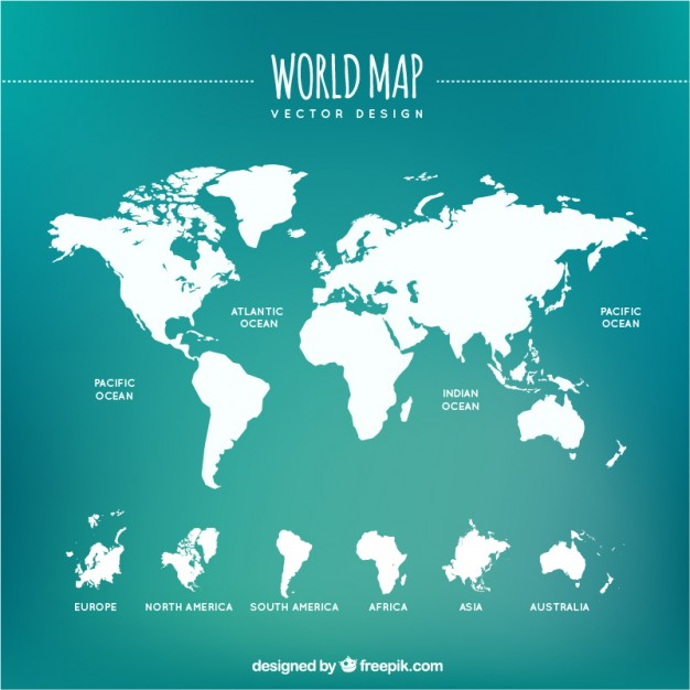 626x626 White World Map Vector Free Download