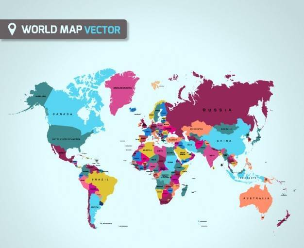 626x511 World Map Vector Free Collection