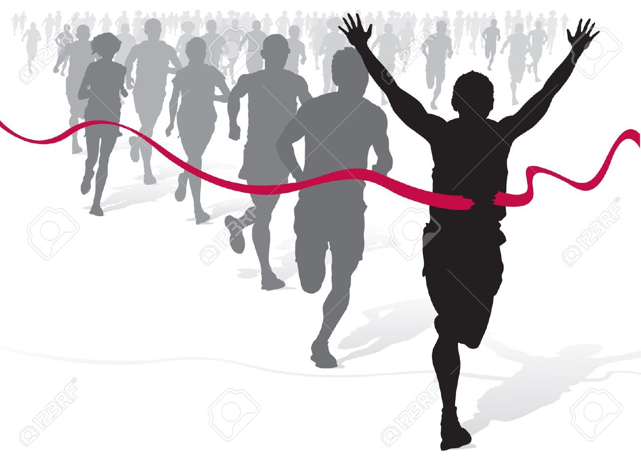 1300x945 Athlete Clipart 10591251 Winning Athlete Ahead Of A Group Of