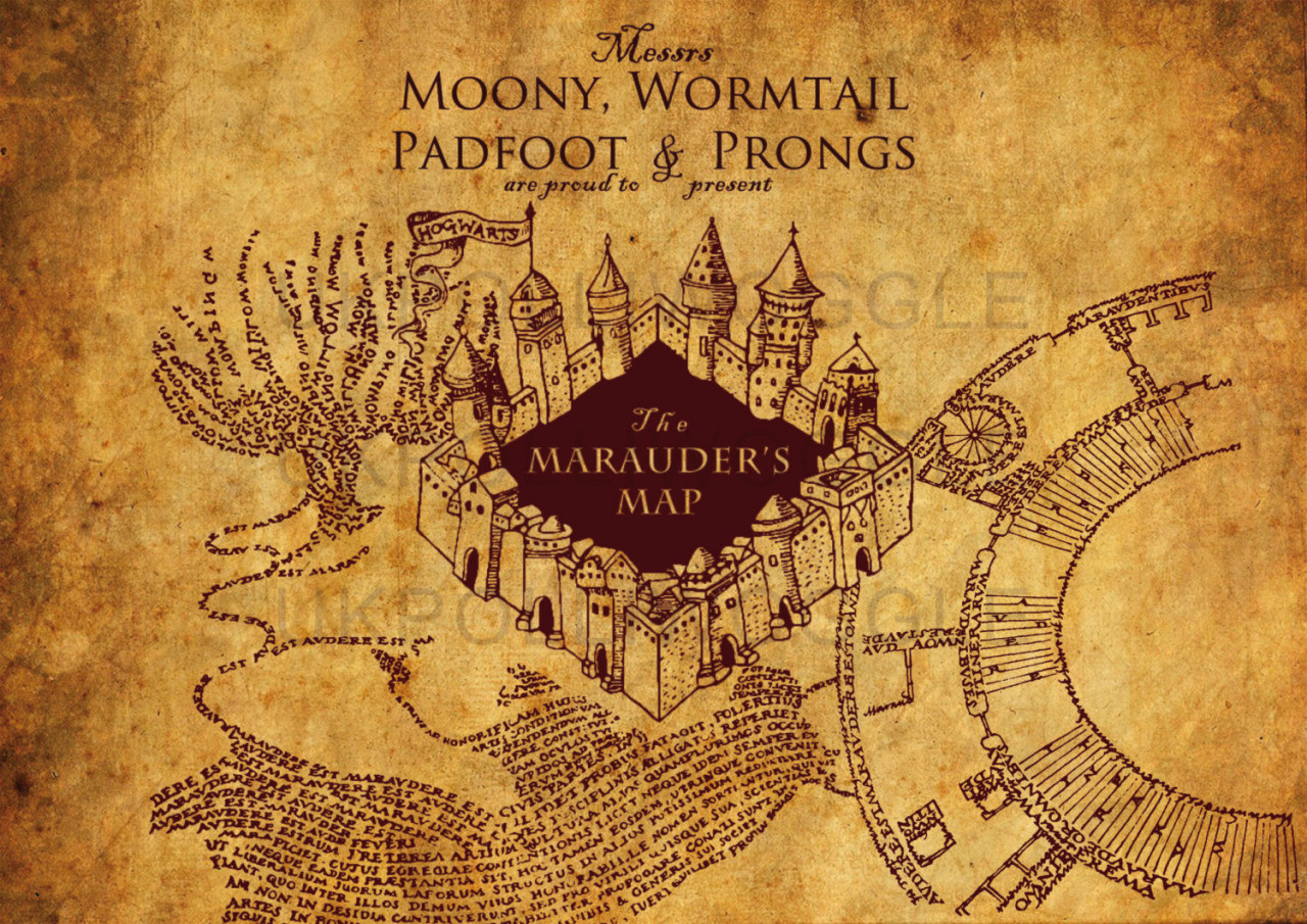 Marauders Map Vector at GetDrawings.com | Free for personal use ...