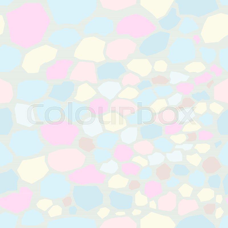 800x800 Seamless Unicorn Marble Pattern. Vector Illustration Stock