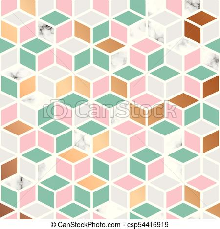 450x470 Vector Marble Texture, Seamless Pattern Design With Honecomb
