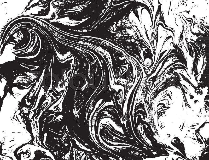 800x611 Black And White Liquid Texture. Watercolor Hand Drawn Marbling