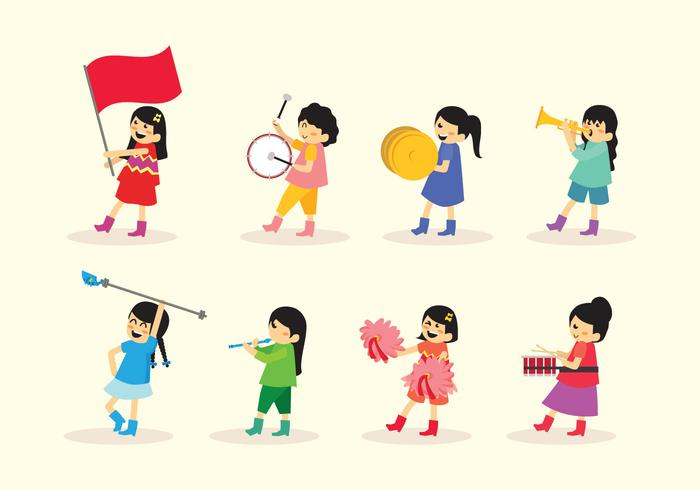 700x490 Girl Marching Band Vector
