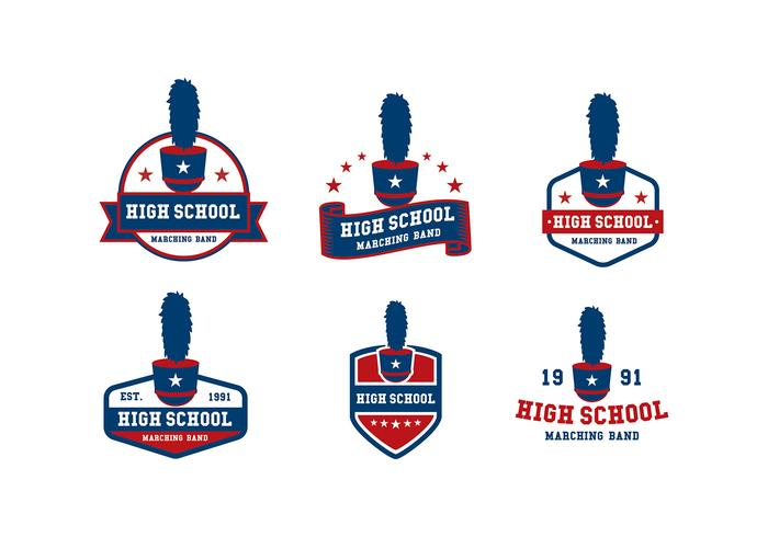 700x490 Marching Band Badge Template Free Vector