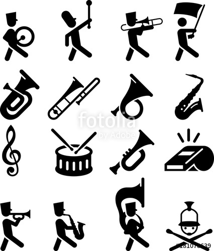 426x500 Marching Band Icons