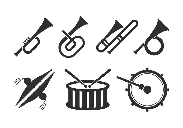 700x490 Marching Band Icons Set