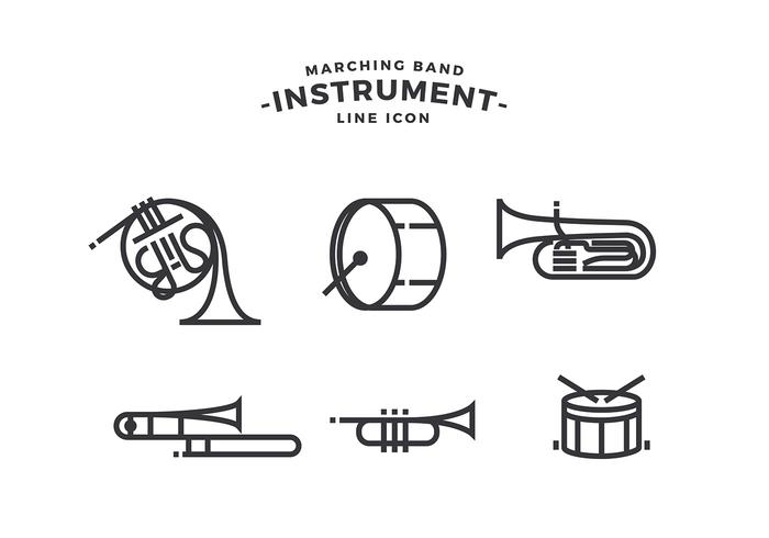 700x490 Marching Band Instrument Free Vector