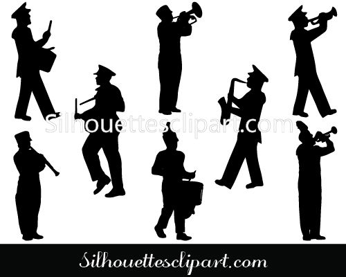 500x400 Marching Band Silhouette Vector Silhouettes