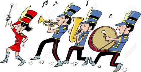 474x242 Marching Band Vector Silhouette Parade Clip Art, Vector, In A