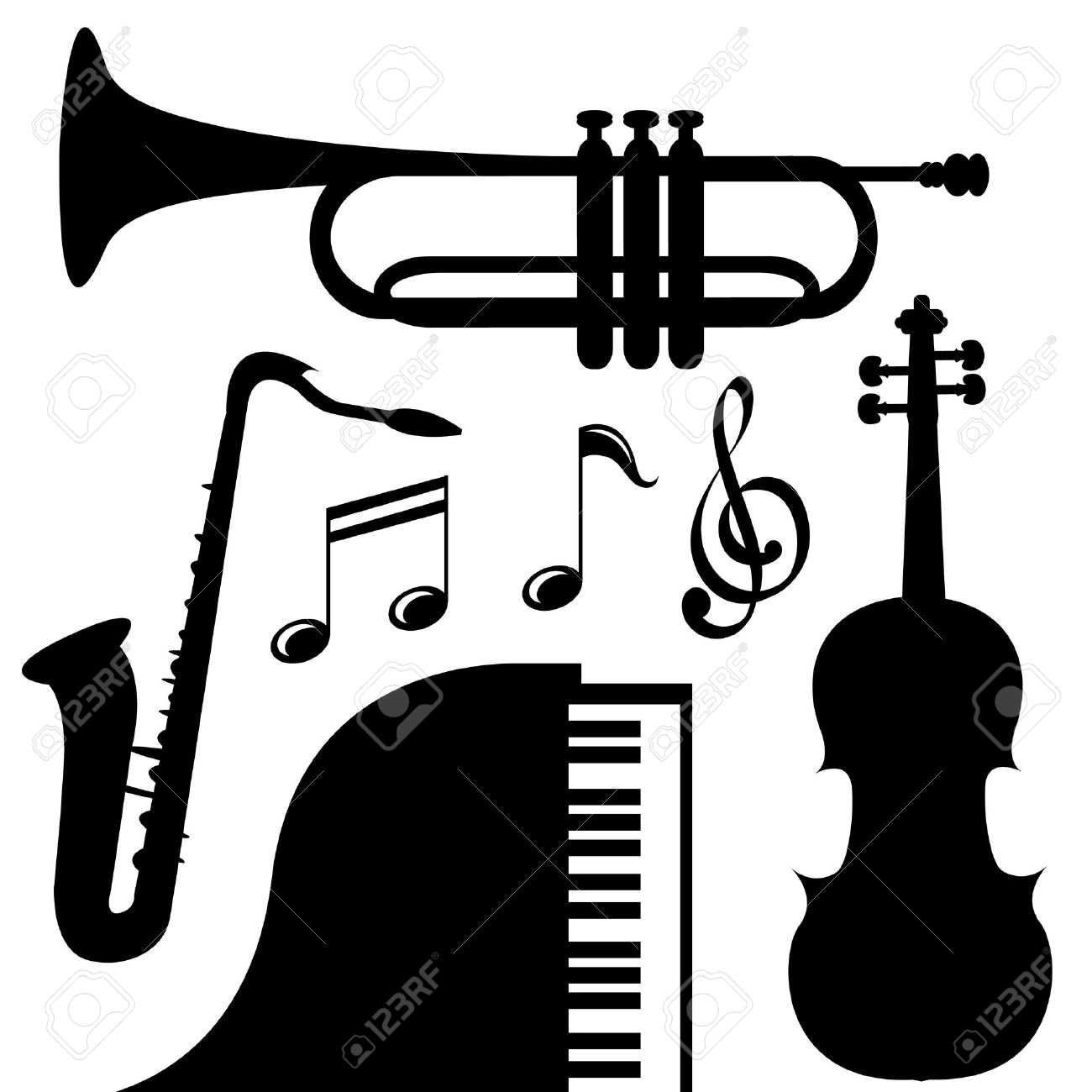 1300x1300 Song Clipart Marching Band Instrument