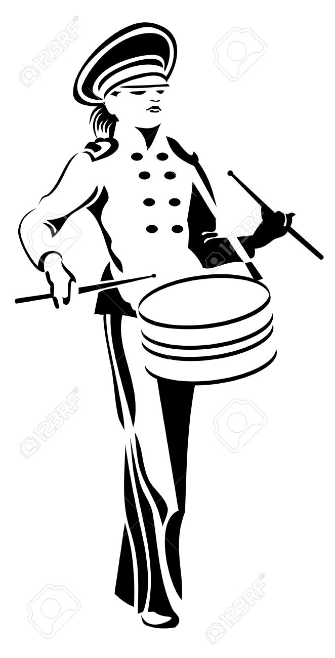 662x1300 Collection Of Marching Band Instruments Clipart High Quality