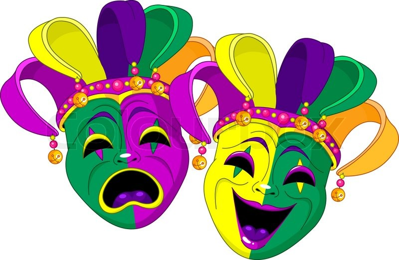 800x522 Mardi Gras Comedy And Stock Vector Colourbox
