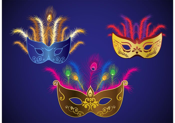 700x490 Mardi Gras Vector Masks Free Vectors Ui Download