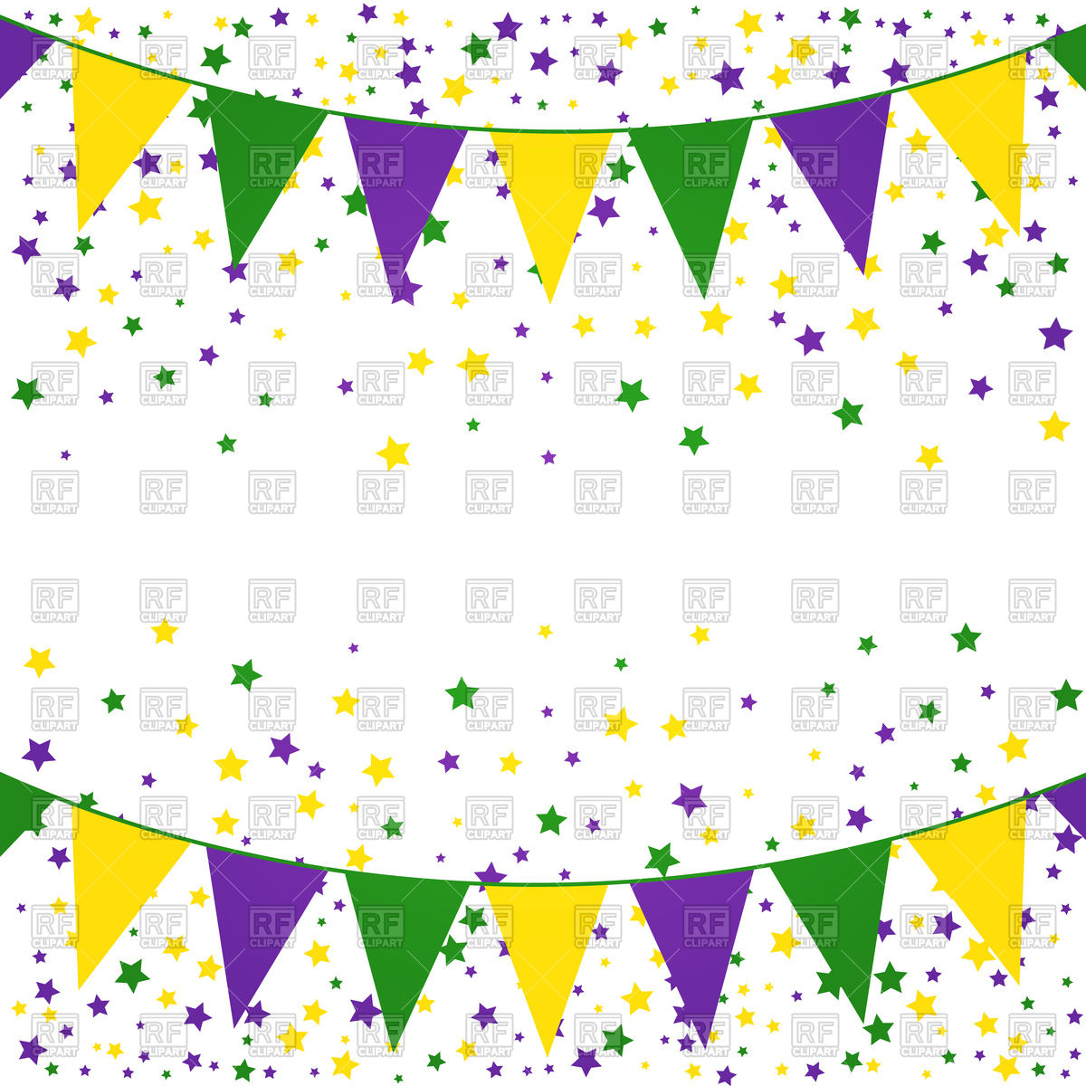1200x1200 Mardi Gras Bunting Background With Confetti Vector Image Vector