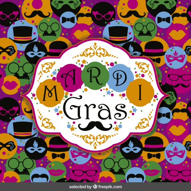 626x626 Mardi Gras Carnival Background Vector Free Download