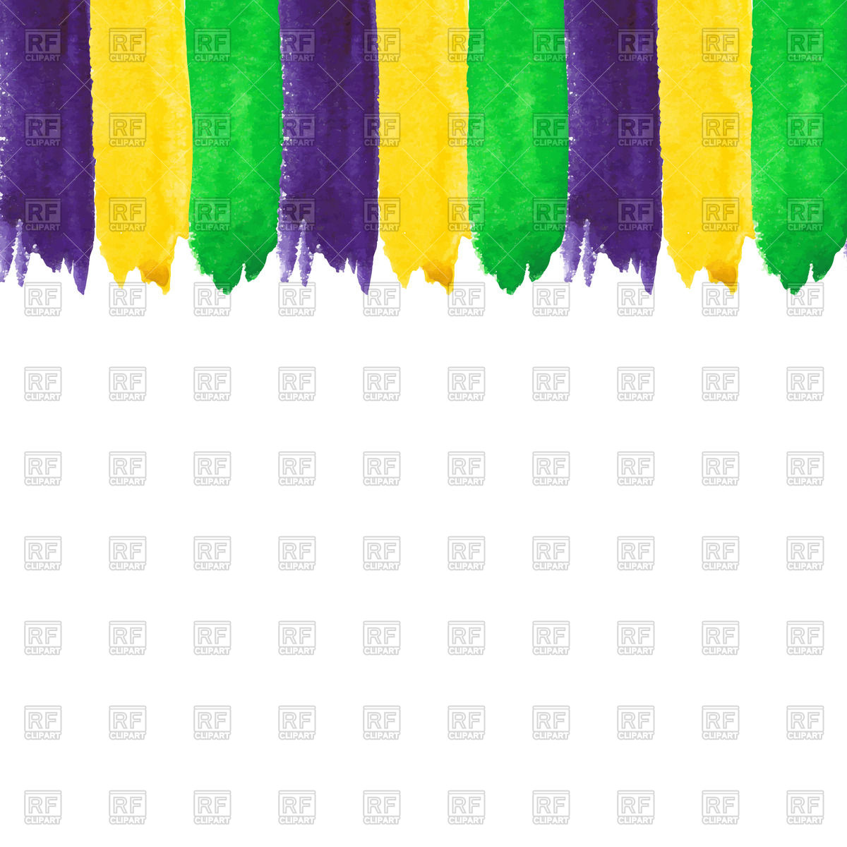 1200x1200 Mardi Gras Watercolor Brushstrokes Vector Image Vector Artwork