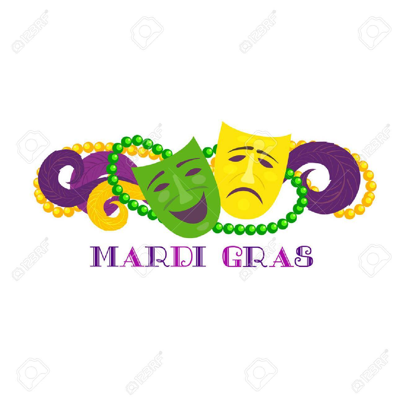 1300x1300 Mardi Gras Clipart Banner ~ Frames ~ Illustrations ~ Hd Images