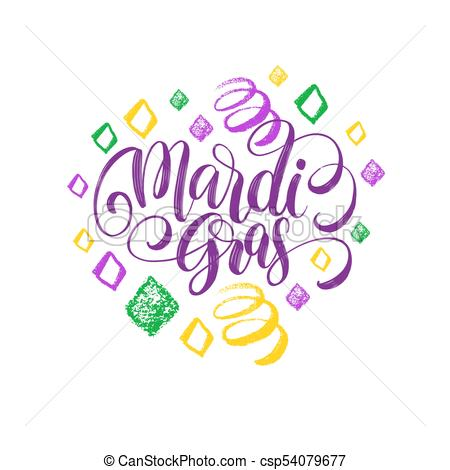 450x470 Mardi Gras Vector Hand Lettering. Fat Or Shrove Tuesday Greeting