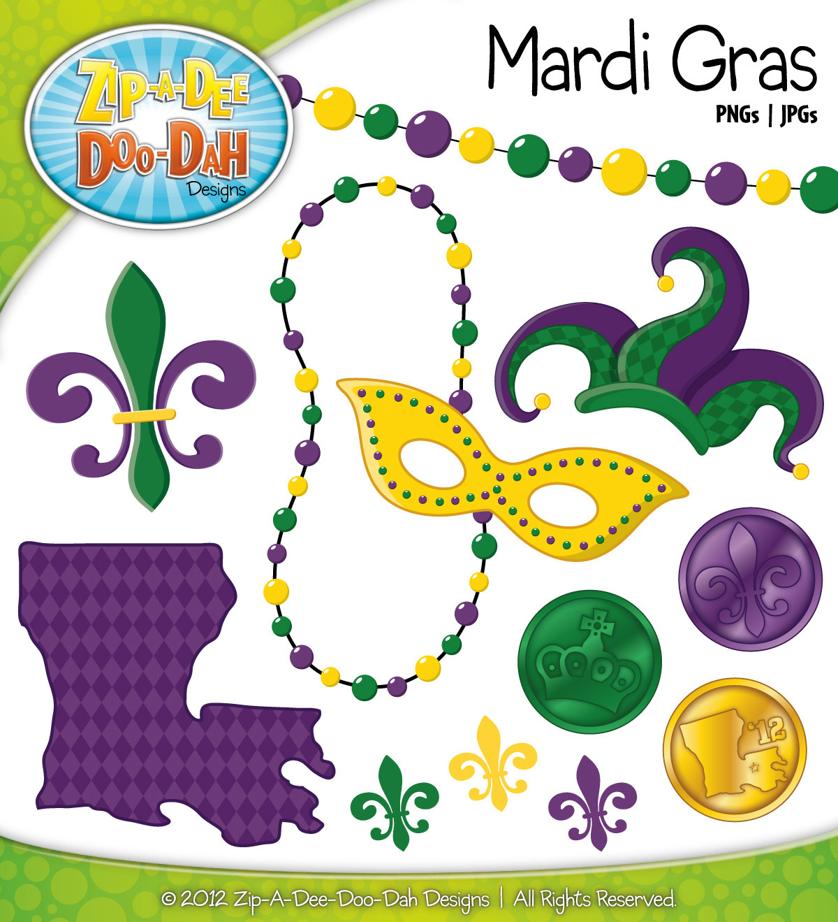 Mardi Gras Vector Art