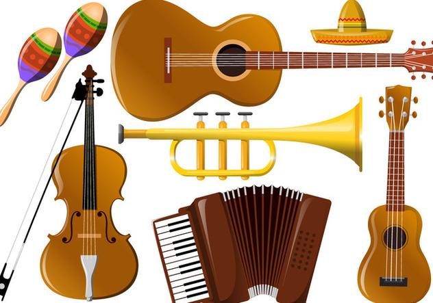 632x443 Mariachi Music Instrument Vectors Free Vector Download 343691
