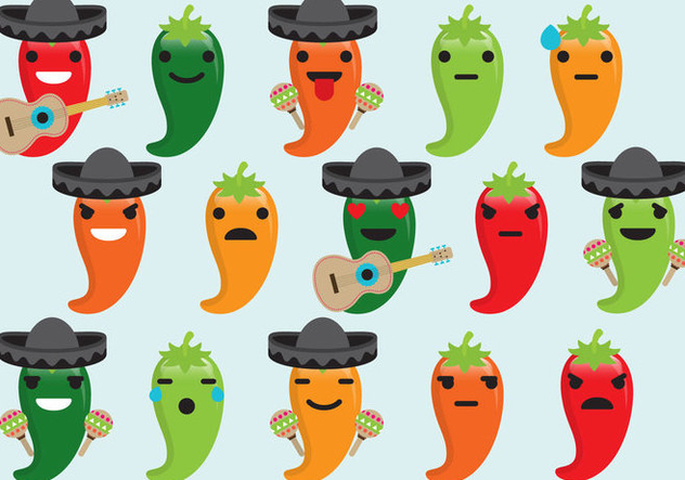 632x443 Chili Mariachi Emoticons Free Vector Download 383005 Cannypic