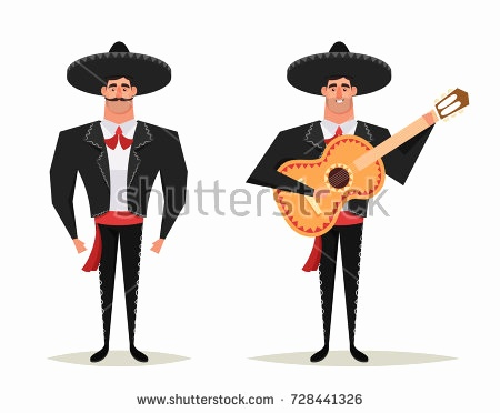 450x372 Mexican Flag Animated Elegant Mariachi Icons Free Vector Pack