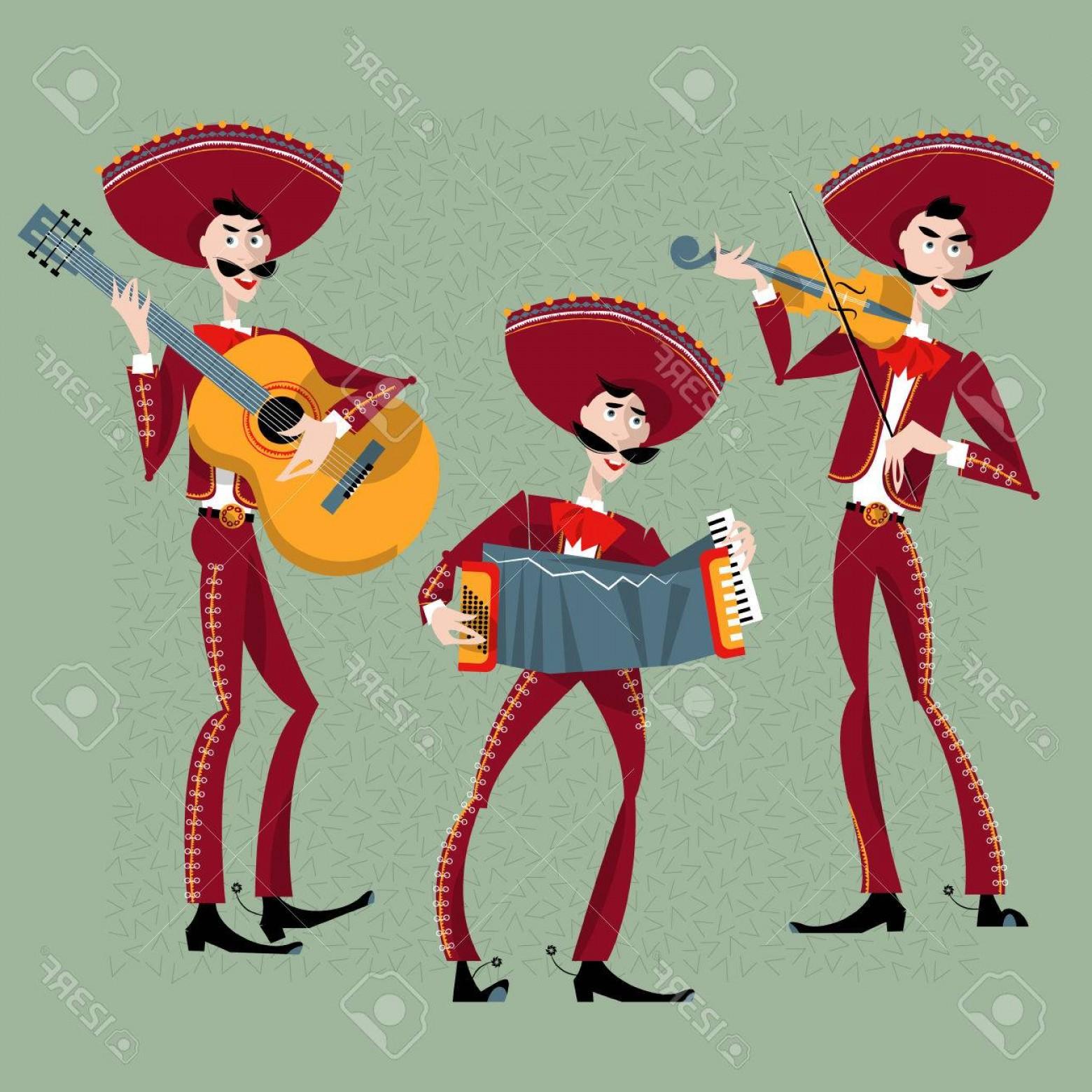 1560x1560 Photostock Vector Mariachi Band Trio Mexican Traditions Vector