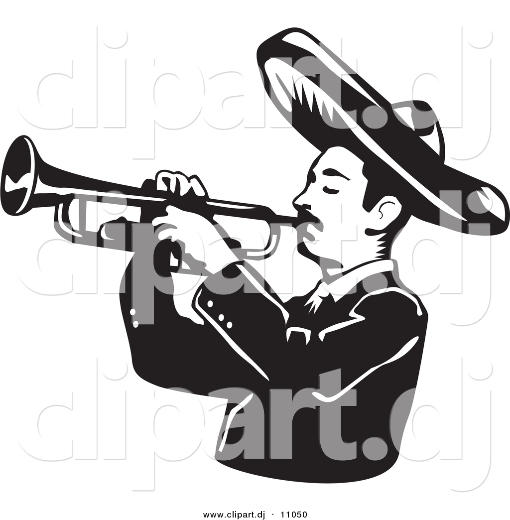 1024x1044 Vector Clipart Of A Mariachi Man Wearing A Sombrero While Playing