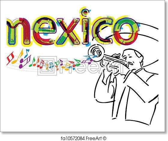 560x470 Free Art Print Of Mexican Mariachi. Vector Illustrati. Mexican