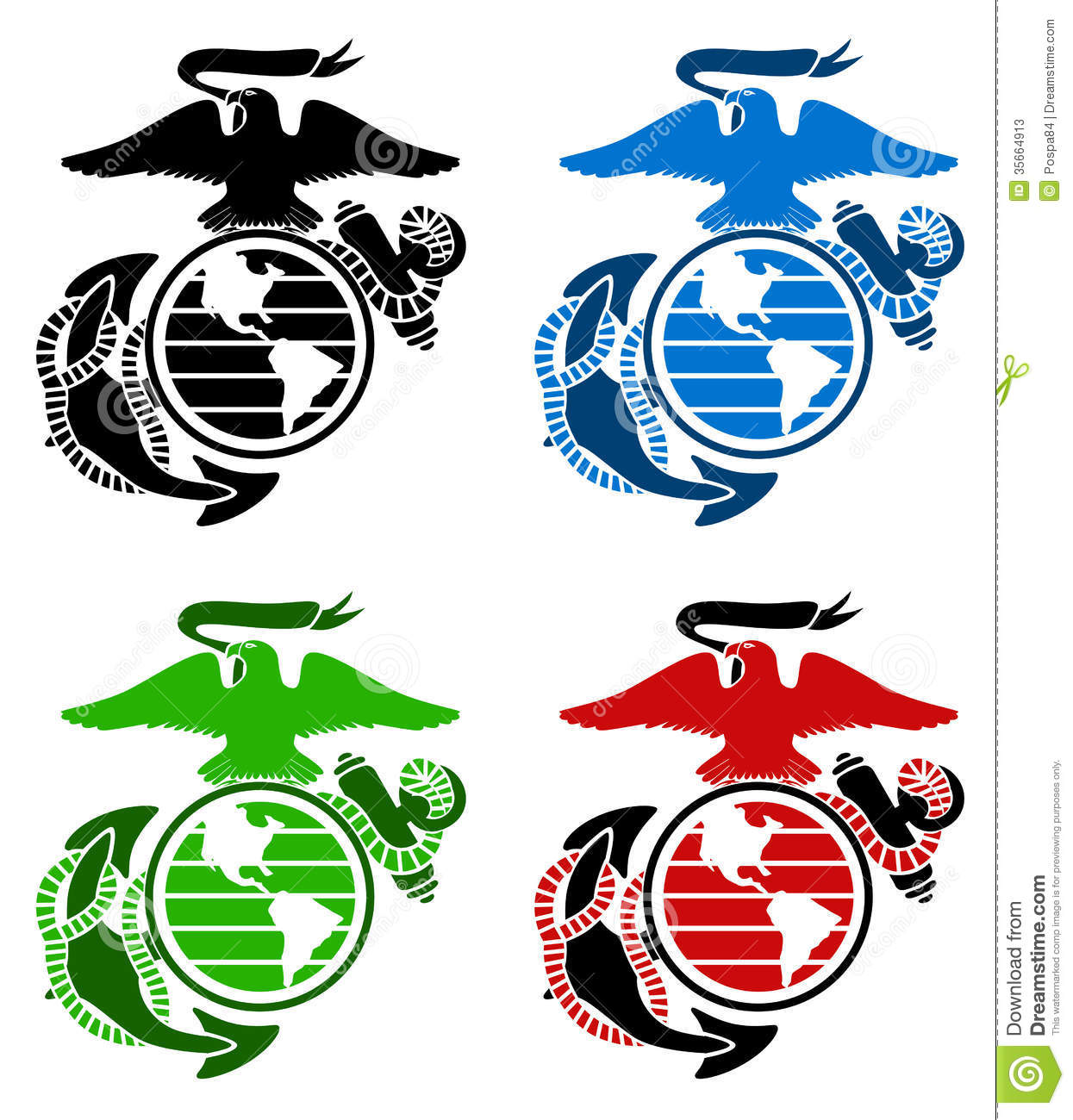 Marine Corps Logo Vector