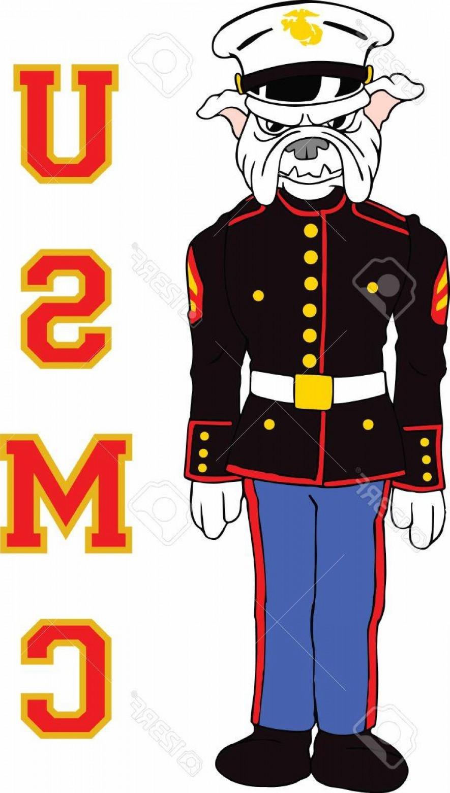885x1560 Photostock Vector Marines Can Show Their Pride With A Bulldog Logo