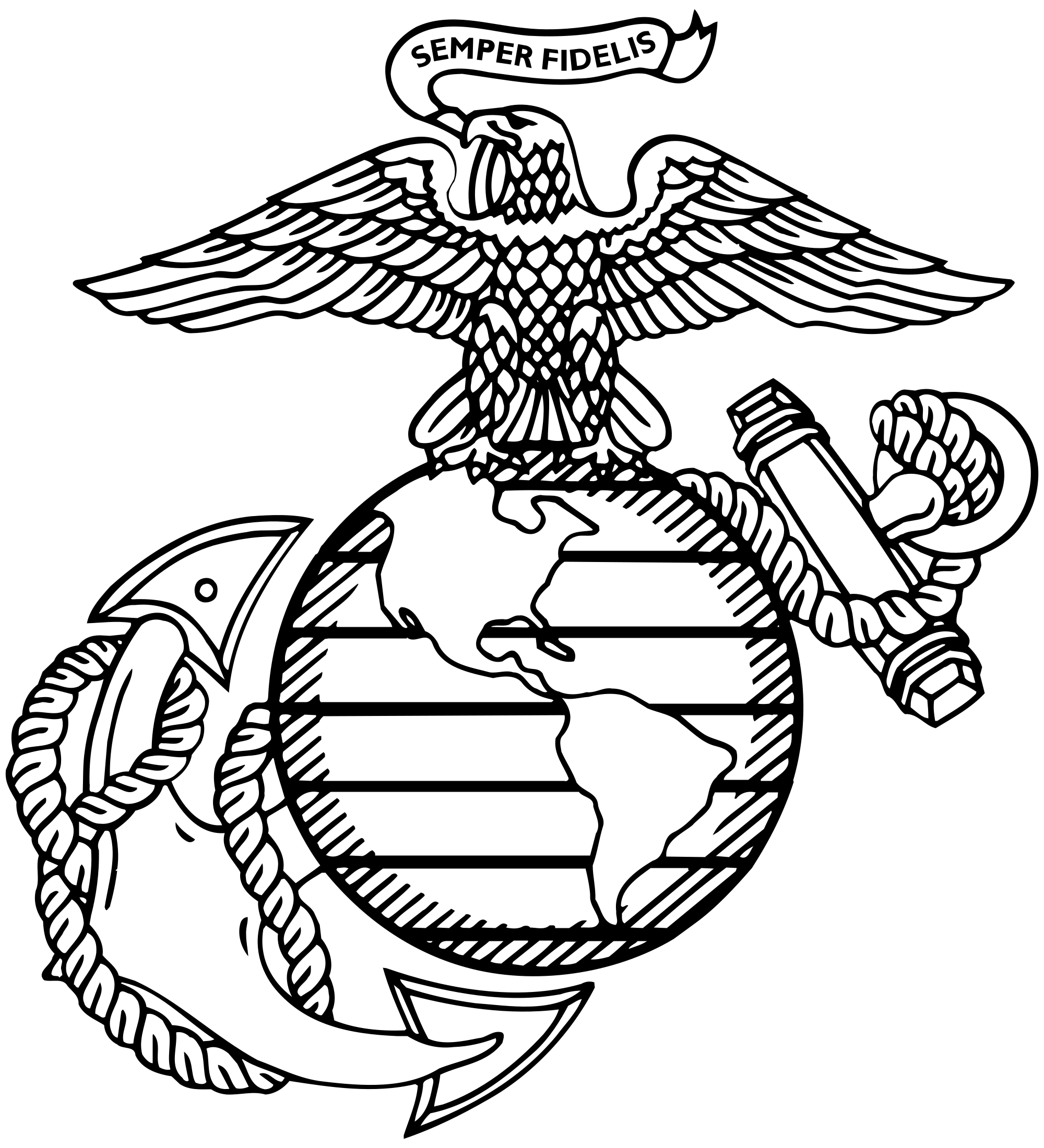 2000x2200 Collection Of Free Military Drawing Marine Corps. Download On Ubisafe
