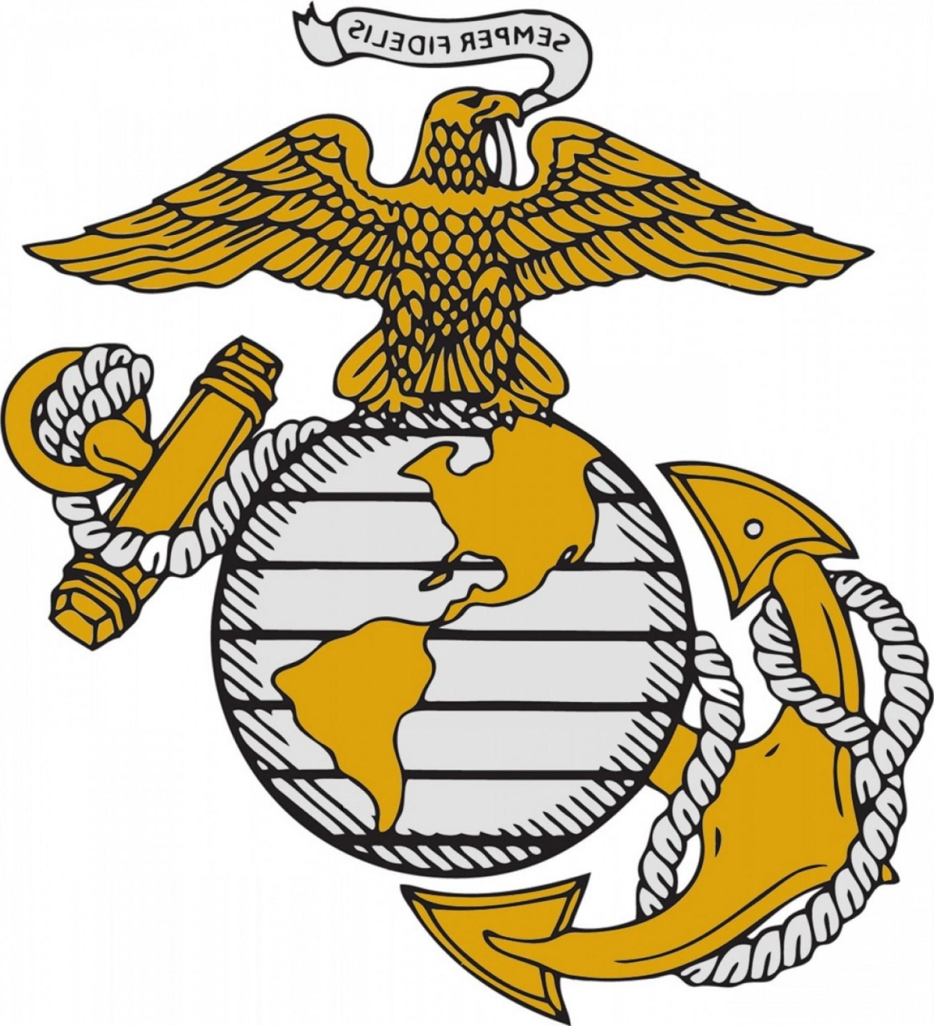 1886x2073 Extremely Marine Corps Logo Vector High Resolution Army Navy Air
