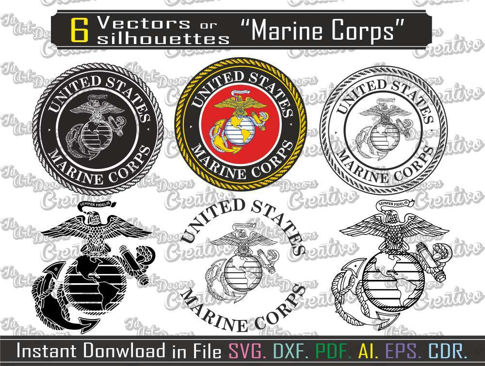 1000x756 Marine Corps Svg, Dxf. Vector Marine Cutting And 10 Similar Items