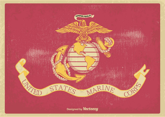 572x407 Us Marine Corps Flag Illustration Vector Free Vector Download In