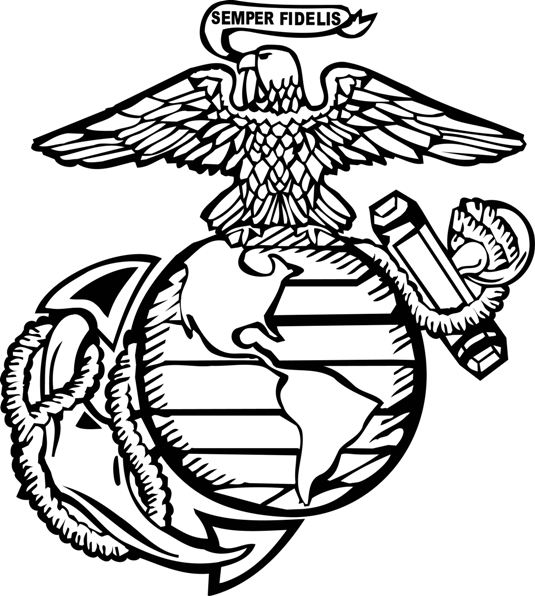 535x596 Collection Of Marine Corps Clipart Logos High Quality, Free