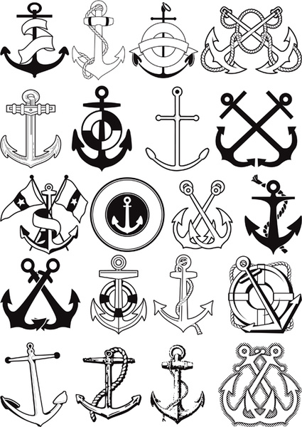 425x600 Different Marine Elements Vector Set Free Vector In Encapsulated