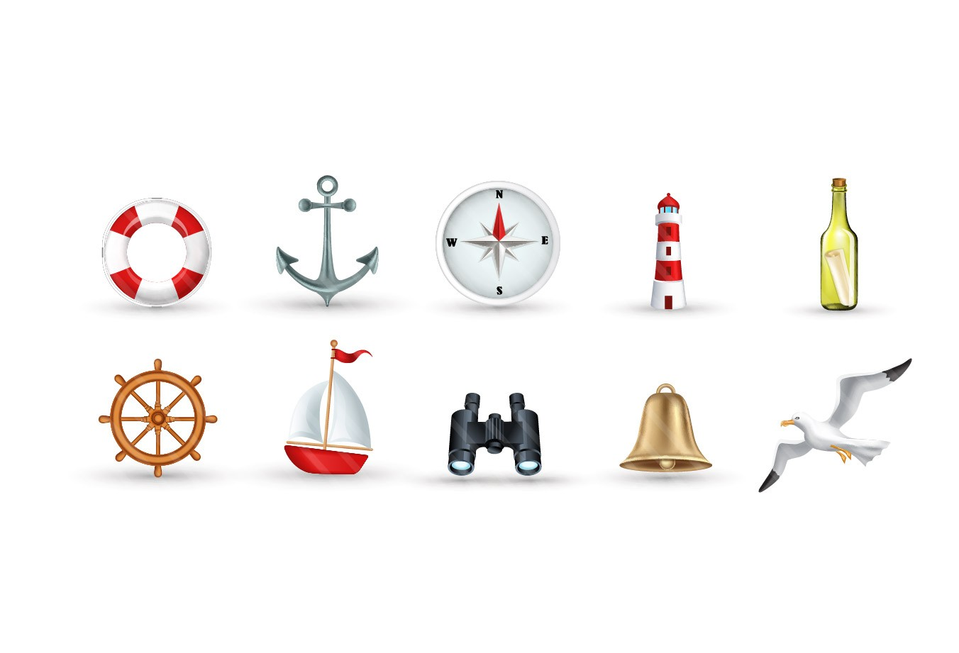1352x921 Marine Vector Art Pack