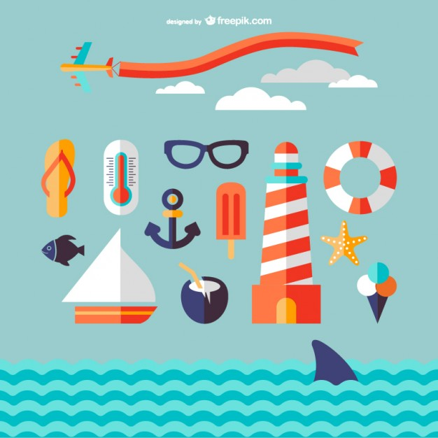626x626 Marine Travel Icons Vector Free Download