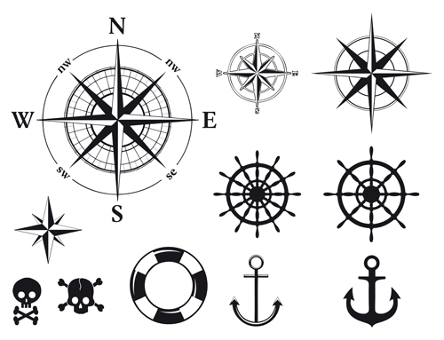 500x383 Different Marine Elements Vector Set 03 Free Download