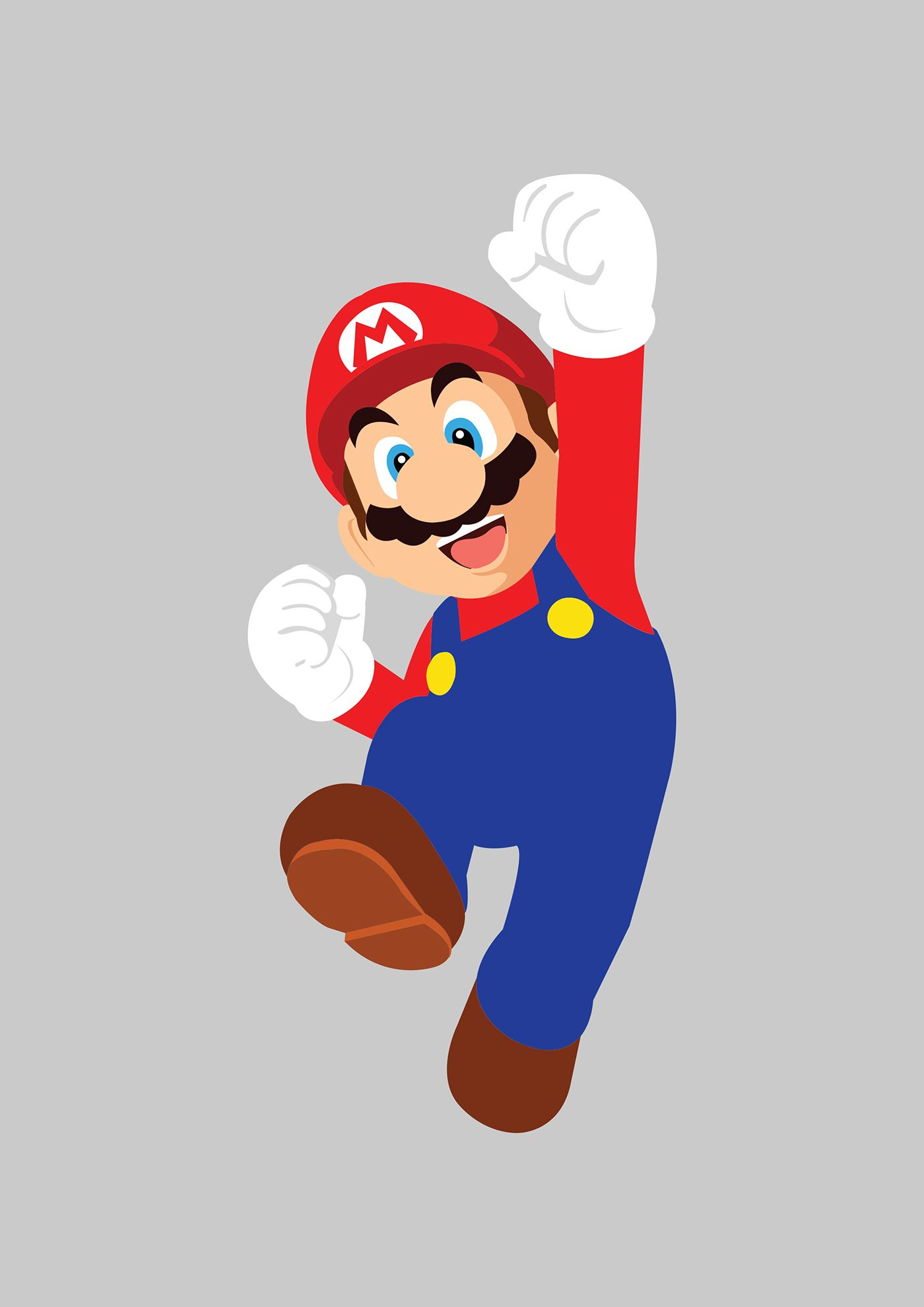 1400x1980 Mario Vector On Behance Video Games Video Game